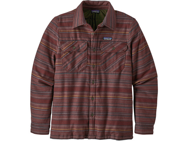 Patagonia Insulated Fjord Flannel Jacket Herr folk dobby/dark ruby